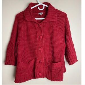 J.jill large petite knit cardigan sweater